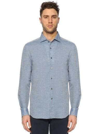 Keten Uzun Kollu Gömlek-Corneliani Id